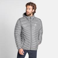 Men's HOODY COCOON N-THERMIC WARM Insulated Jacket, grey melange, large