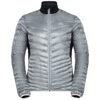 Jacket insulated GREGOR COCOON, odlo silver grey - black, large