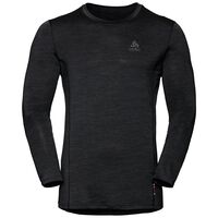 SUW TOP Crew neck l/s NATURAL + LIGHT, black, large