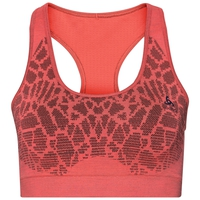 BLACKCOMB SEAMLESS MEDIUM Sports Bra, dubarry - fiery coral, large