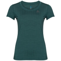 Women's NATURAL + LIGHT Short-Sleeve Base Layer Top, atlantic deep melange, large