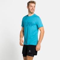 F-DRY-T-shirt met print voor heren, horizon blue - graphic SS21, large