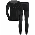 Herren WINTER SPECIALS PERFORMANCE EVOLUTION WARM Baselayer-Set, black - odlo graphite grey, large