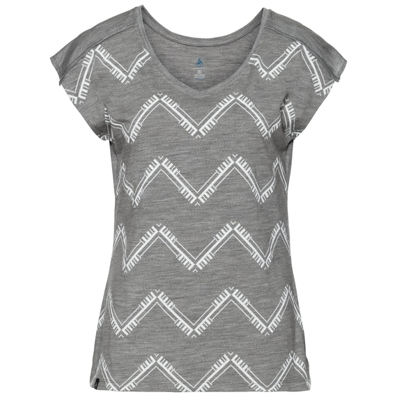 BL Top ALLIANCE KINSHIP kurzärmeliges Oberteil mit Rundhalsausschnitt, grey melange - placed print FW18, large