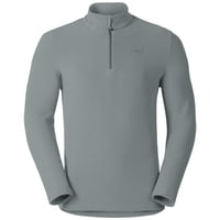 Men's ROY 1/2 Zip Midlayer, granite - metal stripes, large