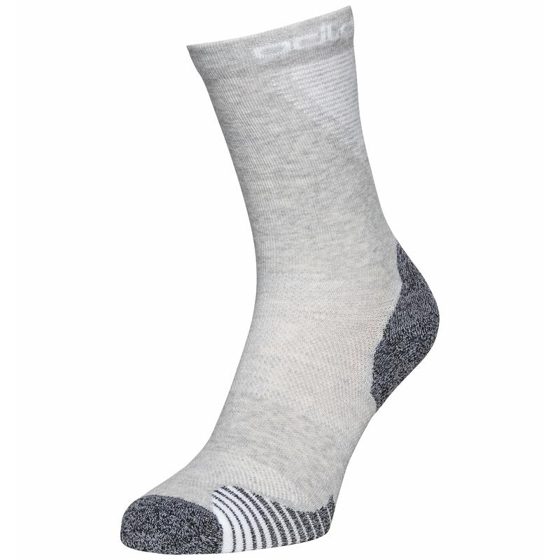 Unisex ACTIVE WARM RUNNING Crew Socks, odlo silver grey, large
