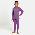ACTIVE WARM ECO KIDS Funktionsunterwäsche-Set, hyacinth violet - grey melange - stripes, large