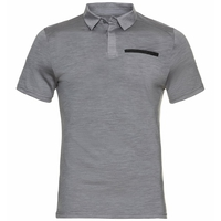 Men's CONCORD NATURAL Polo Shirt, grey melange, large
