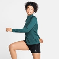 Women's ESSENTIAL Half-Zip Running Midlayer, balsam, large