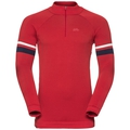 Midlayer 1/2 zip MAGNE, chinese red, large