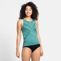 Women's KINSHIP LIGHT Base Layer Singlet, jaded melange, large