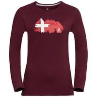 Shirt l/s crew neck CITY PROGRAM, zinfandel, large