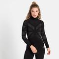 Women's NATURAL + KINSHIP WARM Half-Zip Turtleneck Baselayer Top, black melange, large