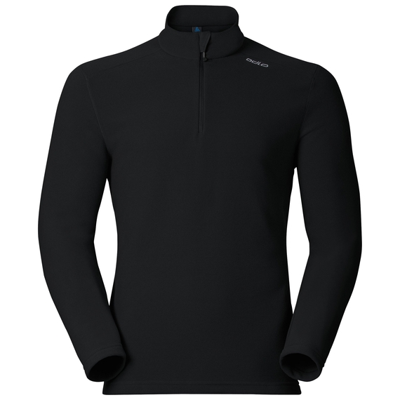 Midlayer 1/2 zip LE TOUR, black, large