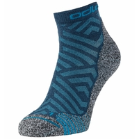 The Active Warm Hike Graphic socks, deep dive - stunning blue, large