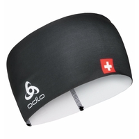 COMPETITION FAN WARM Headband, Swissski black, large