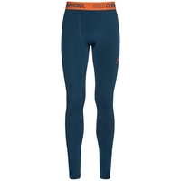 Ceramicool baselayer pants men, blue opal - orangeade, large