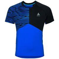 Shirt s/s crew neck MORZINE, energy blue - black, large