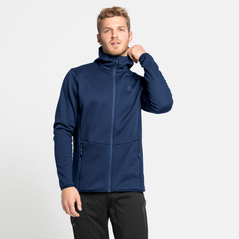 Men's HAVEN X-WARM Mid Layer Hoody, estate blue, large