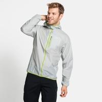 FLI WINDPROOF DWR-jas voor heren, odlo silver grey, large