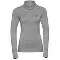 SUW Top Natural 100 % MERINO Warm langärmeliges Oberteil mit Rollkragen, grey melange - grey melange, large