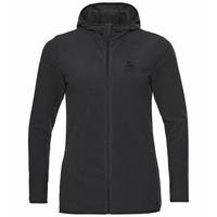 Sweat à capuche zippé ROY pour femme, shale grey - black stripes, large