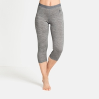 Women's NATURAL 100% MERINO WARM 3/4 Base Layer Pants, grey melange - grey melange, large