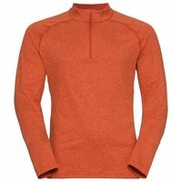 The Sesvenna mid layer half zip, pureed pumpkin melange, large