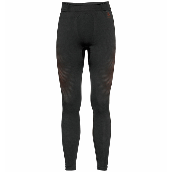 PERFORMANCE WARM ECO-basislaagbroek voor heren, black - orange.com, large