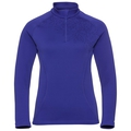 Midlayer con 1/2 zip GLADE da donna, clematis blue - placed print FW19, large