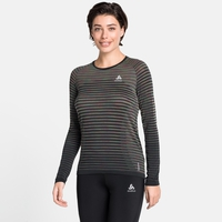 Top a manica lunga Blackcomb Pro da donna, black - space dye, large