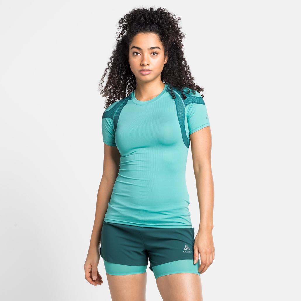 Damen ACTIVE SPINE 2.0 Laufshirt, jaded, large