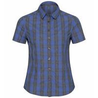 MYTHEN-blouse voor dames, amparo blue - grey melange - check, large