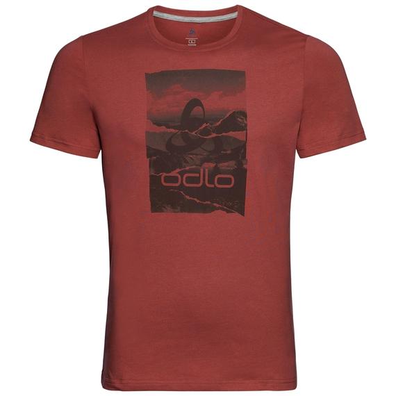 KUMANO LOGO Baselayer T-Shirt, chili oil - placed print SS19, large