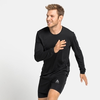 Men's ZEROWEIGHT CHILL-TEC Running Long-Sleeve T-Shirt, black, large