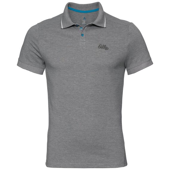 Polo s/s NIKKO, odlo steel grey melange, large