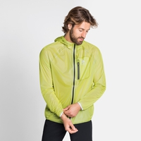 Men's ZEROWEIGHT DUAL DRY Waterproof Running Jacket, limeade, large