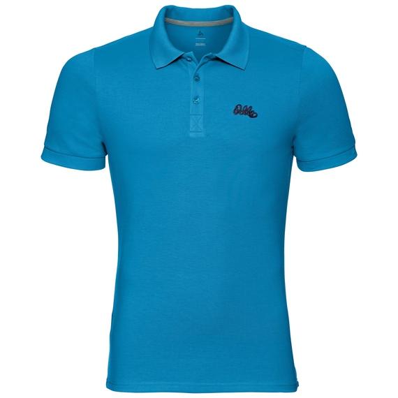 TRIM polo shirt, blue jewel, large