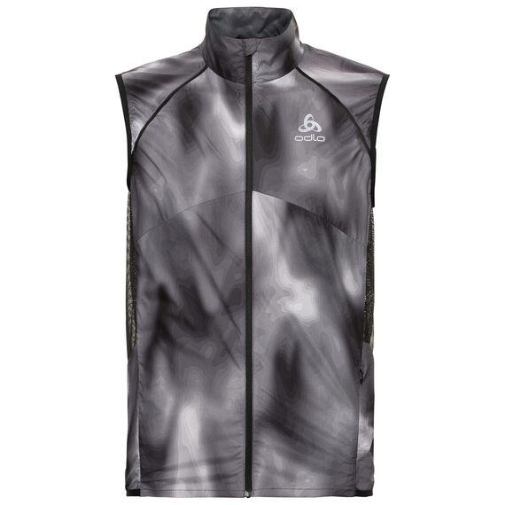Vest OMNIUS Light, odlo concrete grey - black - AOP FW18, large