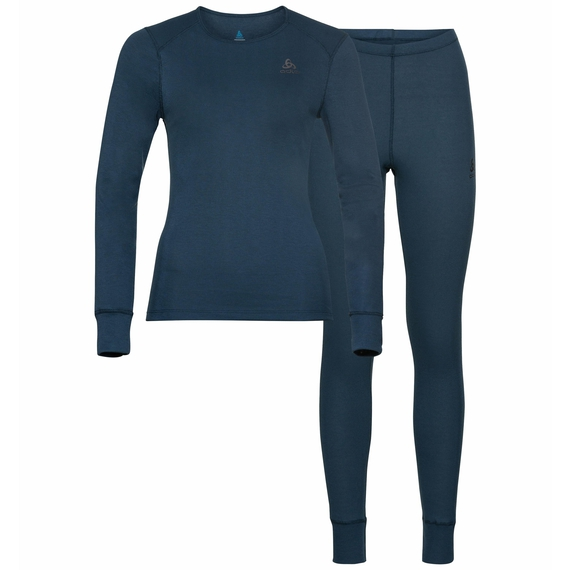 Women's ACTIVE WARM ECO Baselayer Set, blue wing teal, large