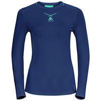 Ceramicool pro baselayer shirt longsleeve women, peacoat - blue radiance, large