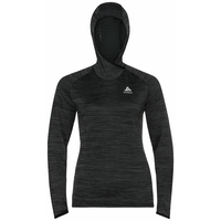 Women's MILLENNIUM ELEMENT Midlayer Hoody, black melange, large