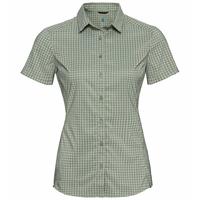 Chemise à manches courtes KUMANO CHECK pour femme, matte green - sea foam, large
