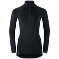 EVOLUTION WARM Baselayer Shirt mit halblangem Reißverschluss, black - odlo graphite grey, large