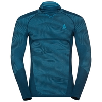 Maglia Base Layer a manica lunga con passamontagna BLACKCOMB da uomo, poseidon - blue jewel - atomic blue, large