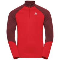 Men's PLANCHES 1/2 Zip Midlayer, syrah - fiery red, large