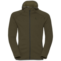 Hoody midlayer full zip MONTAFON, camou green melange, large