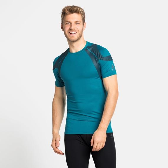 Men's ACTIVE SPINE LIGHT Baselayer T-Shirt, tumultuous sea, large