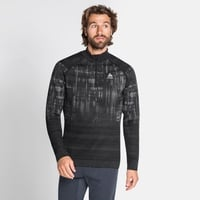 Top midlayer con mezza zip BLACKCOMB da uomo, black, large