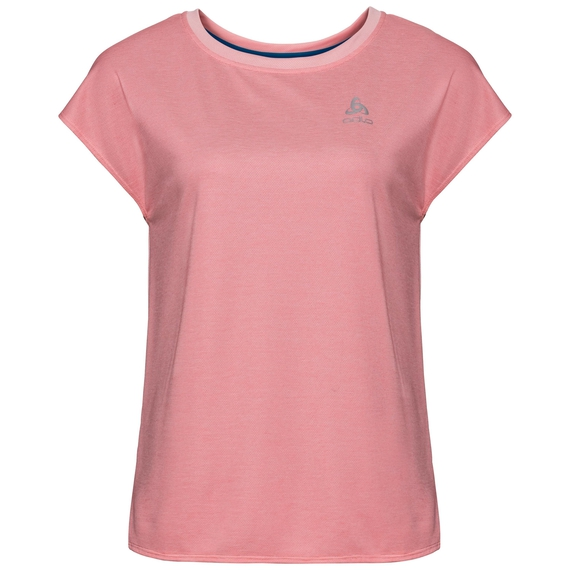 BL TOP Crew neck s/s KUMANO RELAX, blossom - dubarry - stripes, large